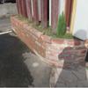 事故によるレンガ壁復旧工事